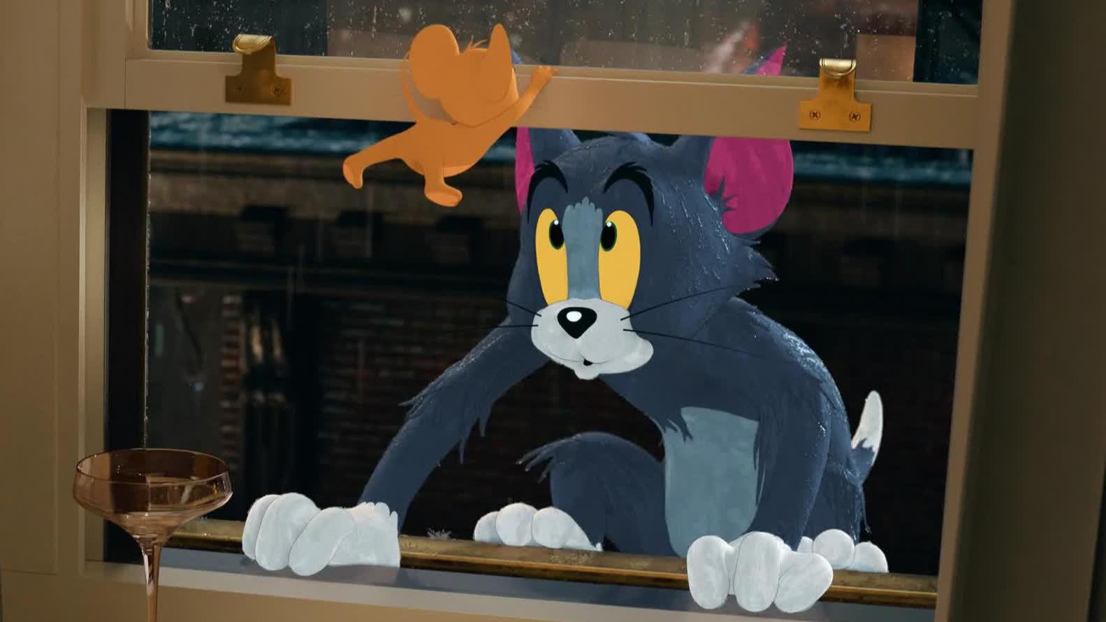 """【猫和老鼠】曝""""天生一对""""版预告 杰瑞邀你电影院花式撸汤姆"""