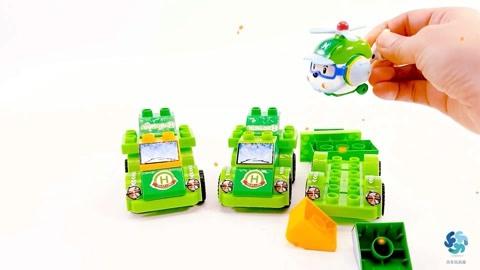 变形警车搭建比赛:小青的魔法拉箱,积木机器人