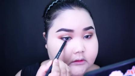 时尚美妆,泰国网红胖女化了个妆,脸型立体显瘦 时尚 优雅 居然也能轻松变女神了