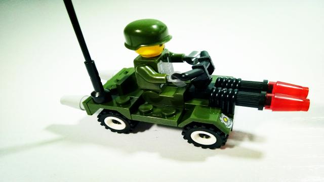 乐高积木玩具 军事陆战队之巡逻车