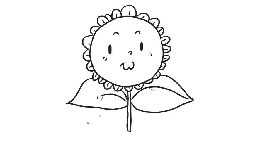 向日葵幼儿亲子简笔画 宝宝轻松学画画