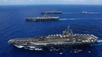美韩数艘巨舰合围朝半岛