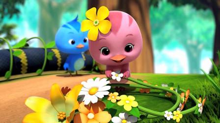 萌鸡小队:萌鸡们给大蟒蛇穿上了花色的衣服,真漂亮呀