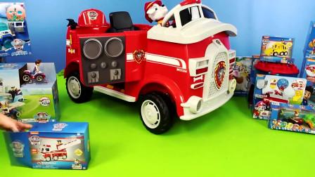 汪汪巡逻队马歇尔消防车套装玩具