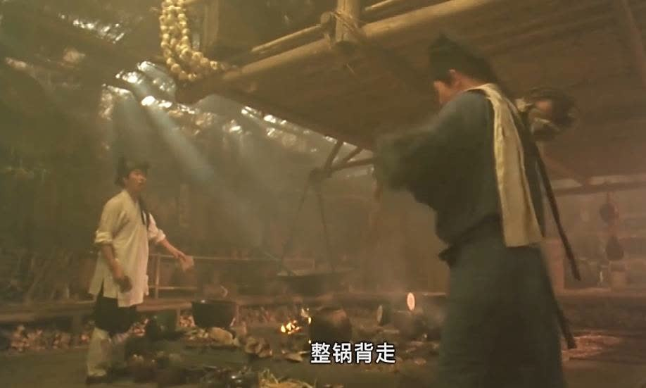 李连杰带师兄弟逃跑,临走前还不忘把整锅汤背走,是来搞笑的嘛?