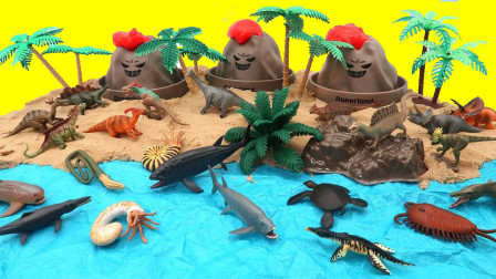 DIY沙滩海底世界恐龙家园