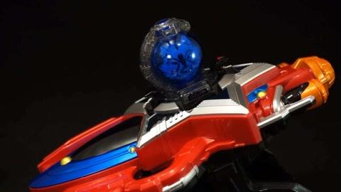 宇宙战队九连者 玩具 星座冲击武器 蓝色 球惑星 声效展示