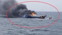 韩海警向中国渔船掷爆音弹