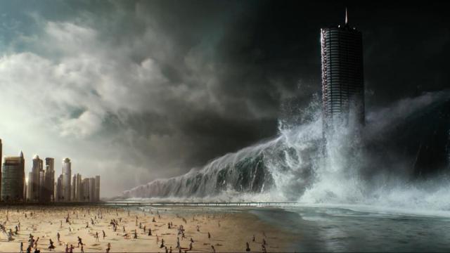 3分钟看《全球风暴》,山崩海啸的场景,感受灾难来临的可怕