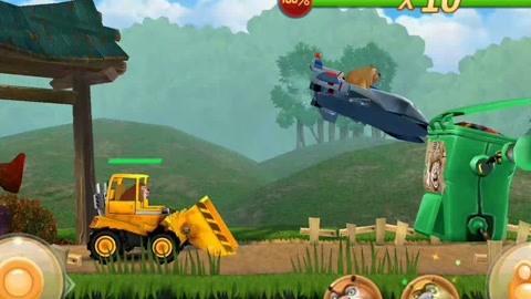 推土机熊大不能飞,熊二加油 熊出没之探险日记游戏