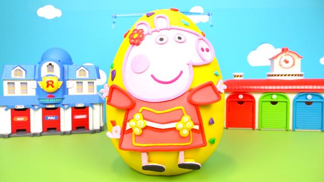 小猪佩奇过大年超级奇趣蛋玩具