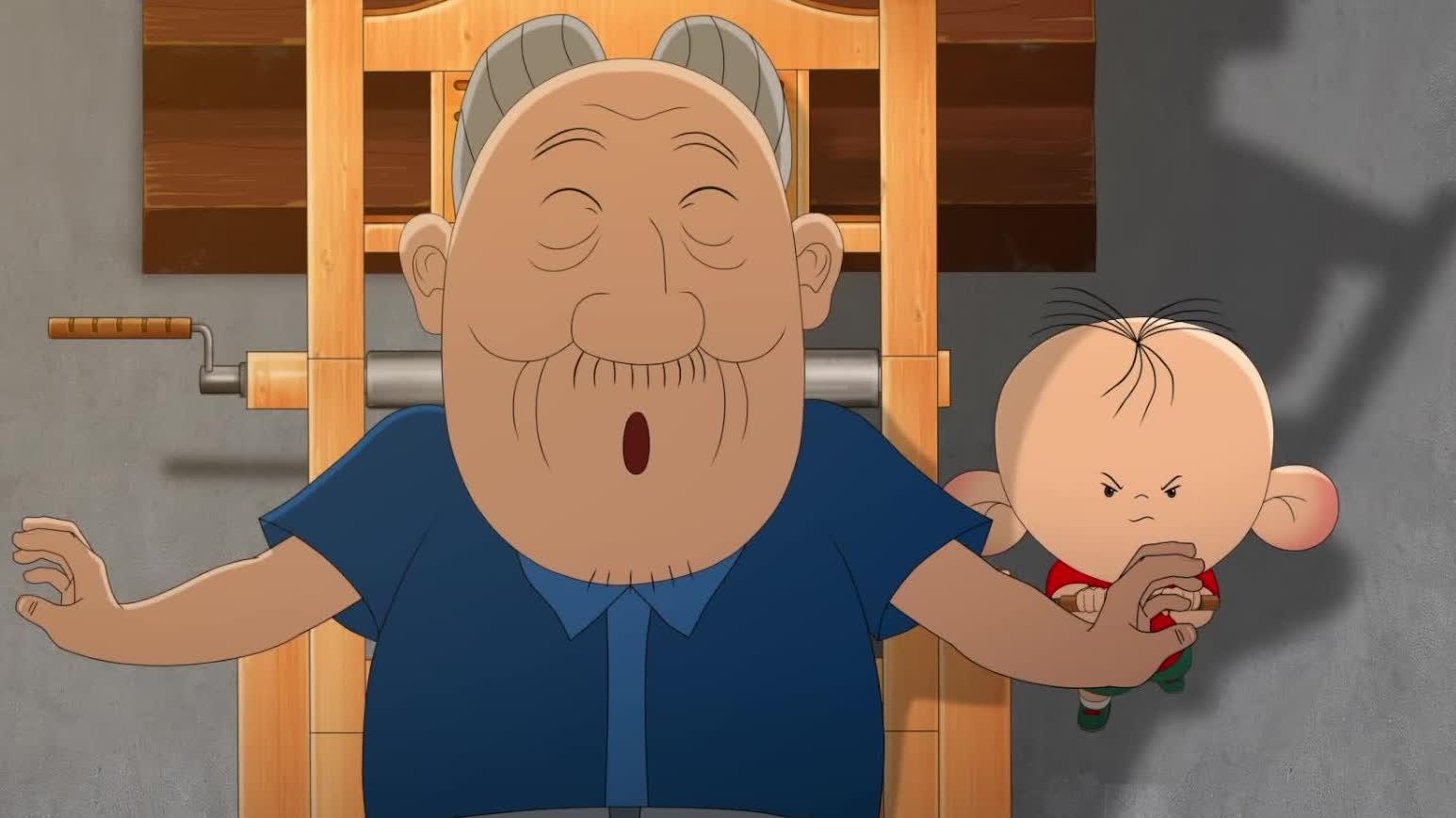 """【大耳朵图图之霸王龙在行动】""""神奇的按摩椅""""片段发布"""